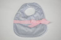 Grey Dot Bib with Bow