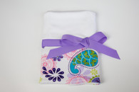 Purple Paisley Burp Cloth with Bow