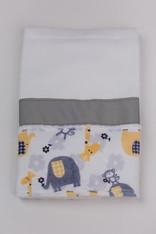 Yellow Zoo Burp Cloth with Ribbon