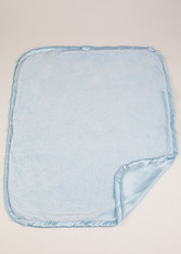 Blue Dot Blanket with Blue Satin