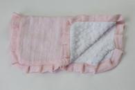 Pink Circles Thumb Blanket