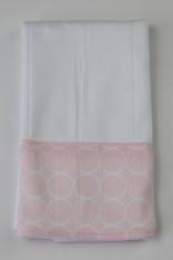 Pink Circles Burp Cloth