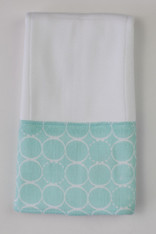 Blue Circles Burp Cloth
