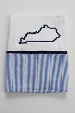 Seersucker Kentucky Burp Cloth