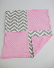 Grey Chevron and Pink Blanket