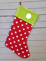 Red and White Polka Dot Stocking