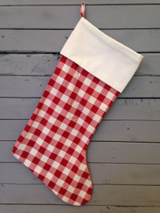 Red and White Checkered Stocking