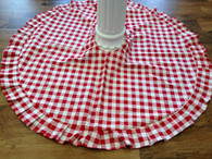 Red and White Checkered Tree Skirt