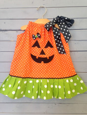 Jack-o-lantern Pillowcase Dress