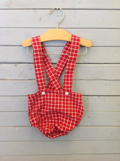 Red and White Checkered Suspender Bloomers