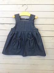 Denim Kelly Dress with Pockets