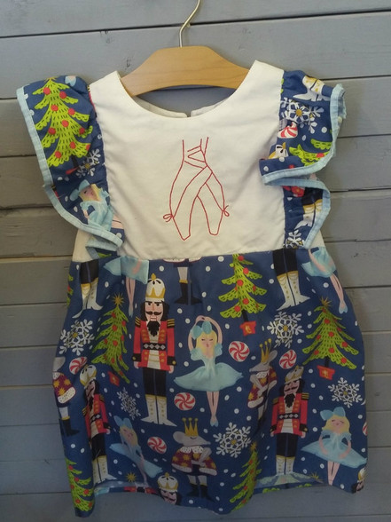 This ballerina dress is too cute! monogrammed ballerina toes ,on top of a nutcracker dress!