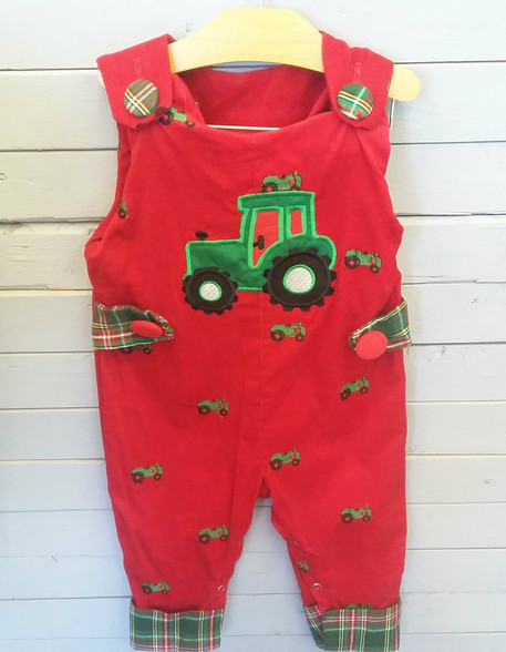 This tractor Jon Jon is great for your little famer. It has a big applique tractor on it, with multiple little tractors in the fabric