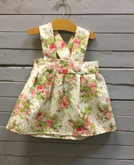 Charlotte Dress, Cream with Roses