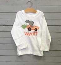 Carrot Car Bunny Applique T-Shirt