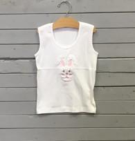 Applique Bunny Face T-Shirt