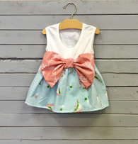 Sleeveless Sailboat Bow Dress