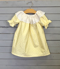 Yellow Priscilla Dress with White Eyelet