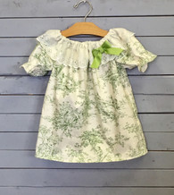 Green Toile Priscilla Dress