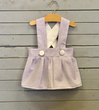 Purple Seersucker Charlotte Dress
