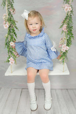Blue Gingham Kristin (Kids Dress)