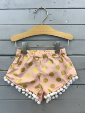 Gold Polka Dot Shorties