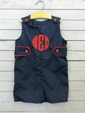 Navy Jon Jon with Red Applique