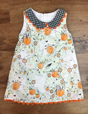 Ghost & Pumpkin Sleeveless Shift