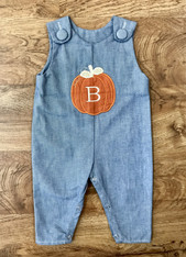 Denim Pumpkin Applique Jon Jon