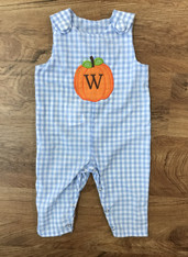 Gingham Pumpkin Applique Jon Jon