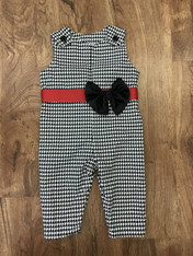 Black and White Houndstooth Jon Jon for Girl