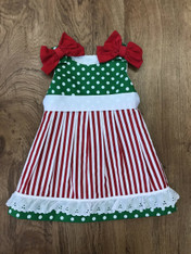 Green and Red Christmas Dress