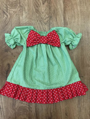 Red and Green Prissy Dress