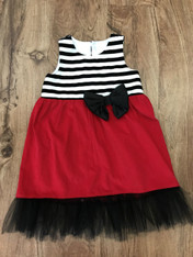 Red Black & White Dress