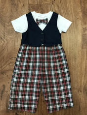 Plaid Pants and Vest Set