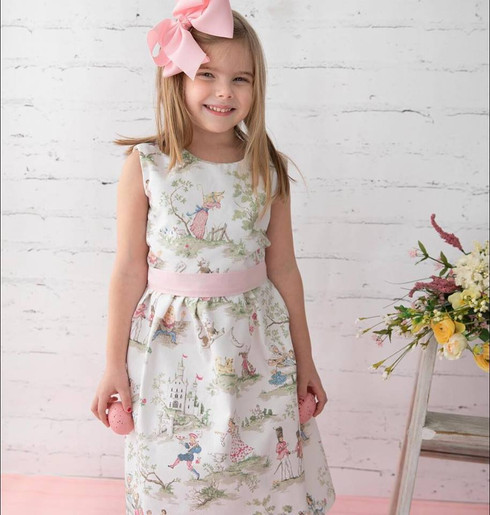 This sweet nursery rhyme dress is perfect for Easter, or just simply spring in general.