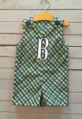 Green Plaid Shortalls