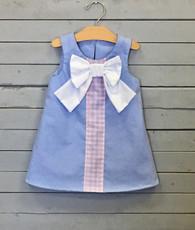 Blue Oxford Shift Dress