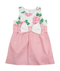 pink floral shift dress