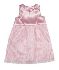 Pink floral lace dress