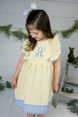 Yellow Pinafore with Initial