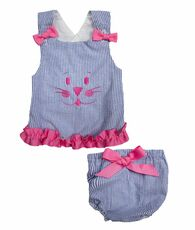 Bunny Maggie top and bloomers set