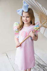 Pink Rainbow Initial Dress