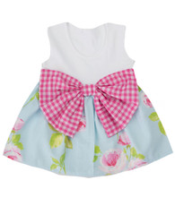 Floral Gingham Bow Dress
