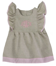 Linen and pink monogram dress