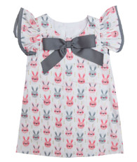 Gray and Pink Bunny Dress