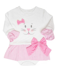 Bunny face Skirted onesie