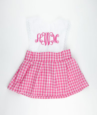 Pink Gigham Backtie Izzy Dress