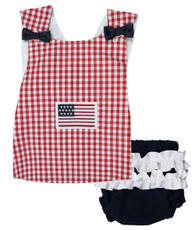 Red, white and blue flag maggie top and bloomers