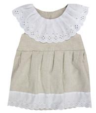 Linen Eyelet Dress